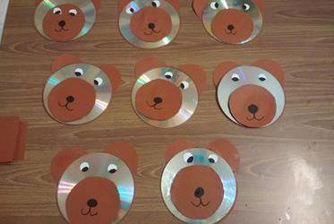 Miś z płyty CD