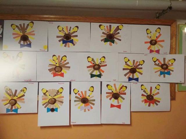 Miś z pasków Aneta Grądzka-Rudziak Prace plastyczne Prace plastyczne (Dzień misia) Prace plastyczne (Dzień Zwierząt) Zwierzęta (Prace plastyczne)