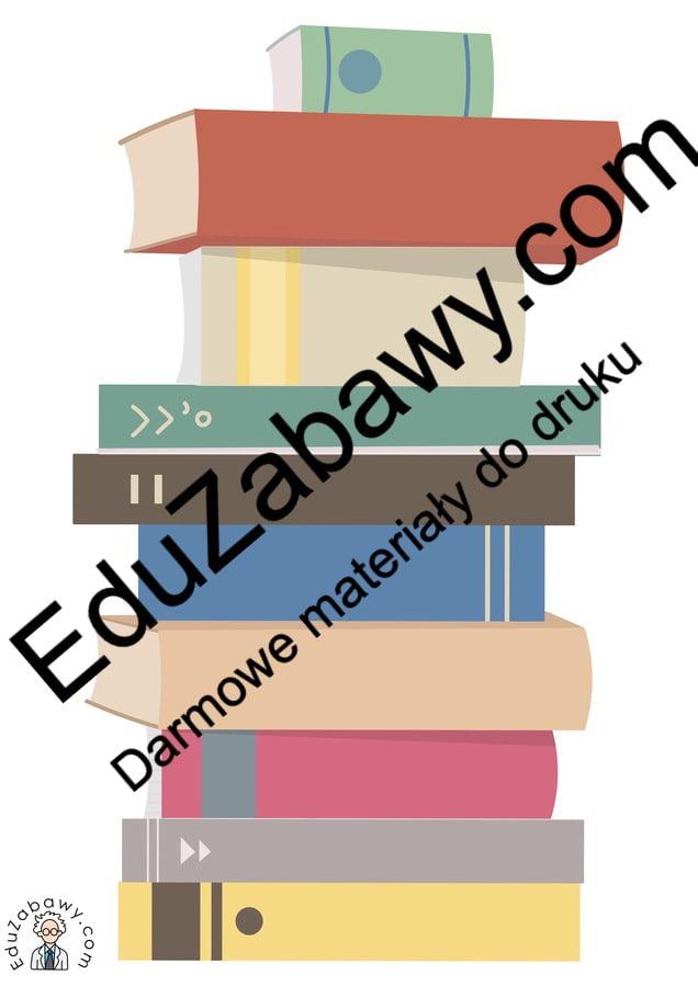 Dekoracje: Książki (10 szablonów) Dekoracje Dekoracje (Dzień Książki) Dekoracje (Dzień Postaci z Bajek) Dzień Książki