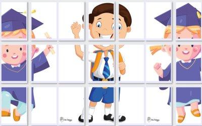 Dekoracje: Przedszkolaki i uczniowie 3XL (4 szablony)