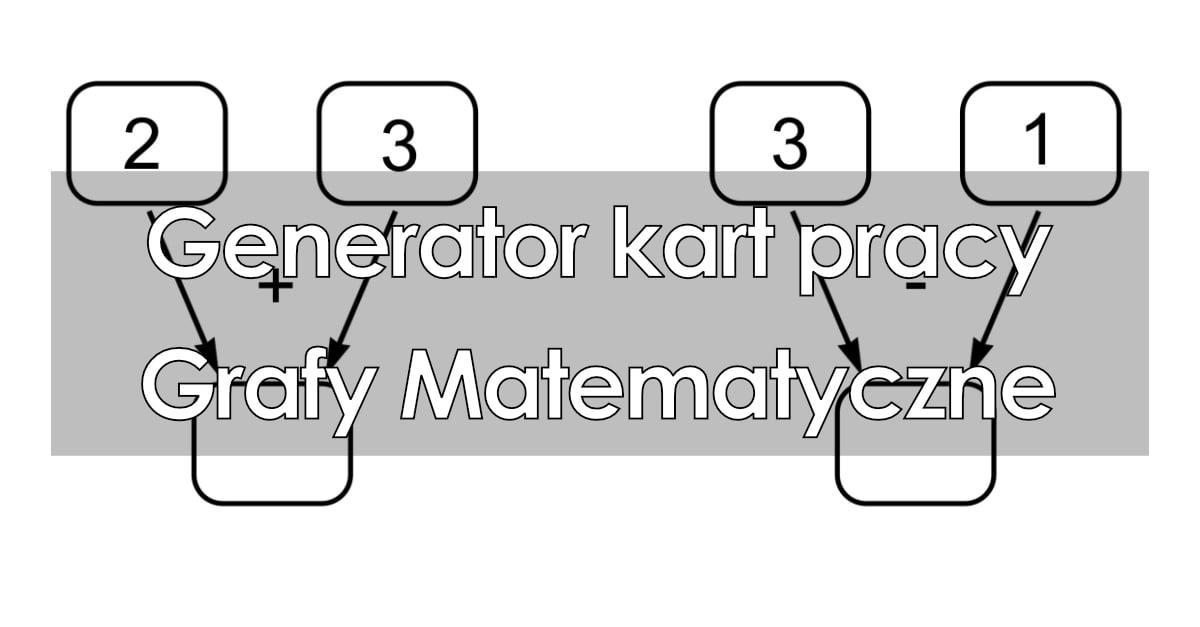 Generator kart pracy: Grafy matematyczne