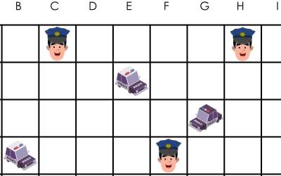 Policja: Kodowanie – Statki (10 kart pracy)