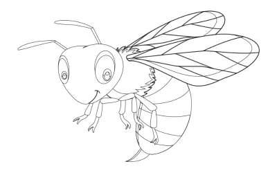 Kolorowanki: Pszczoły (10 szablonów)