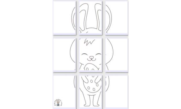Kolorowanki XXL: Zajączek wielkanocny (10 szablonów)