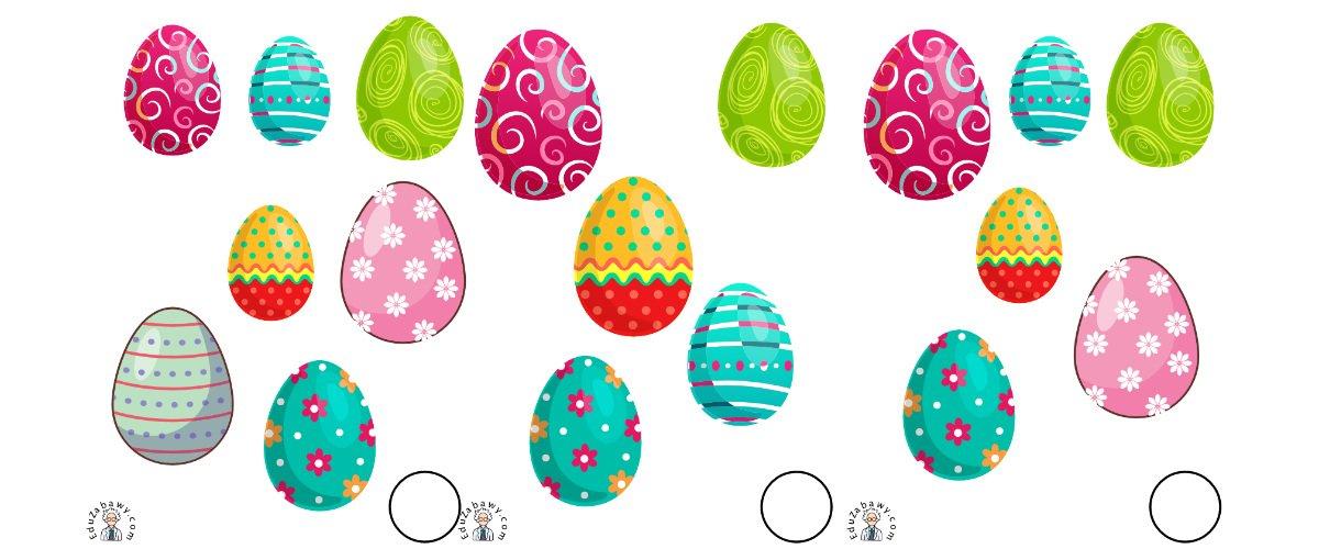 Wielkanoc: Nauka liczenia (10 kart pracy)