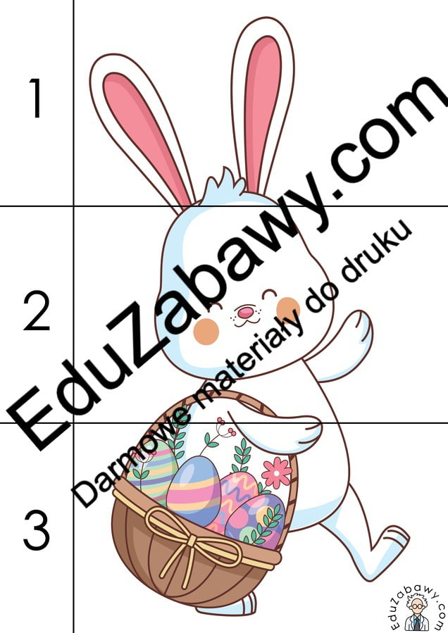 Wielkanoc: Puzzle 3 elementy (10 kart pracy) Karty pracy Karty pracy (Wielkanoc) Puzzle Wielkanoc