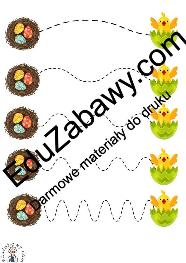 Wielkanoc: Szlaczki (10 kart pracy) Karty pracy Karty pracy (Wielkanoc) Szlaczki Wielkanoc