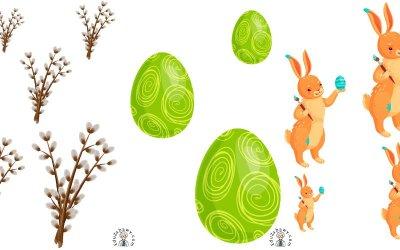 Wielkanoc: Uszereguj (10 kart pracy)