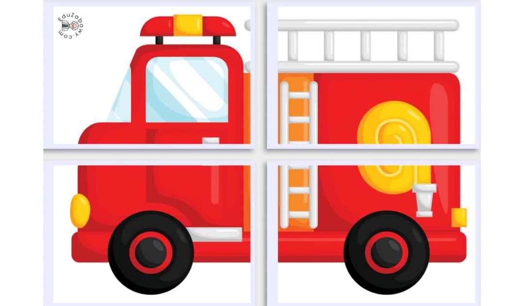 Dekoracje XXL: Pożar, gaśnica, wóz strażacki (10 szablonów)