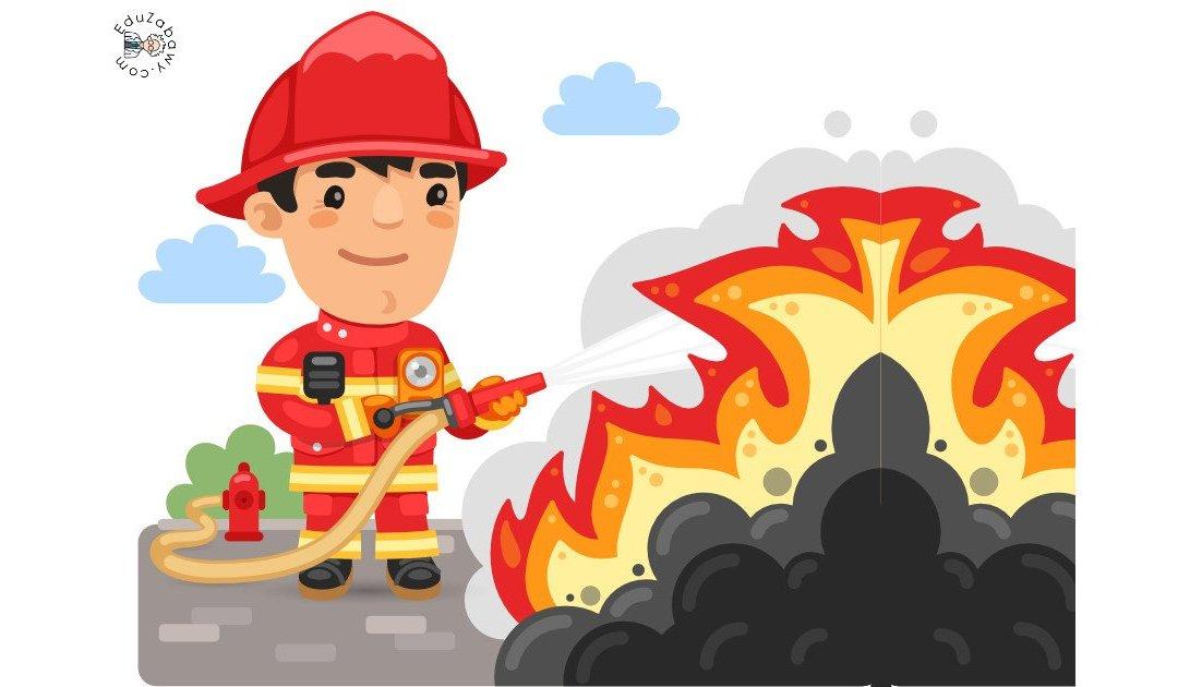 Dekoracje: Pożar, gaśnica, wóz strażacki (10 szablonów)