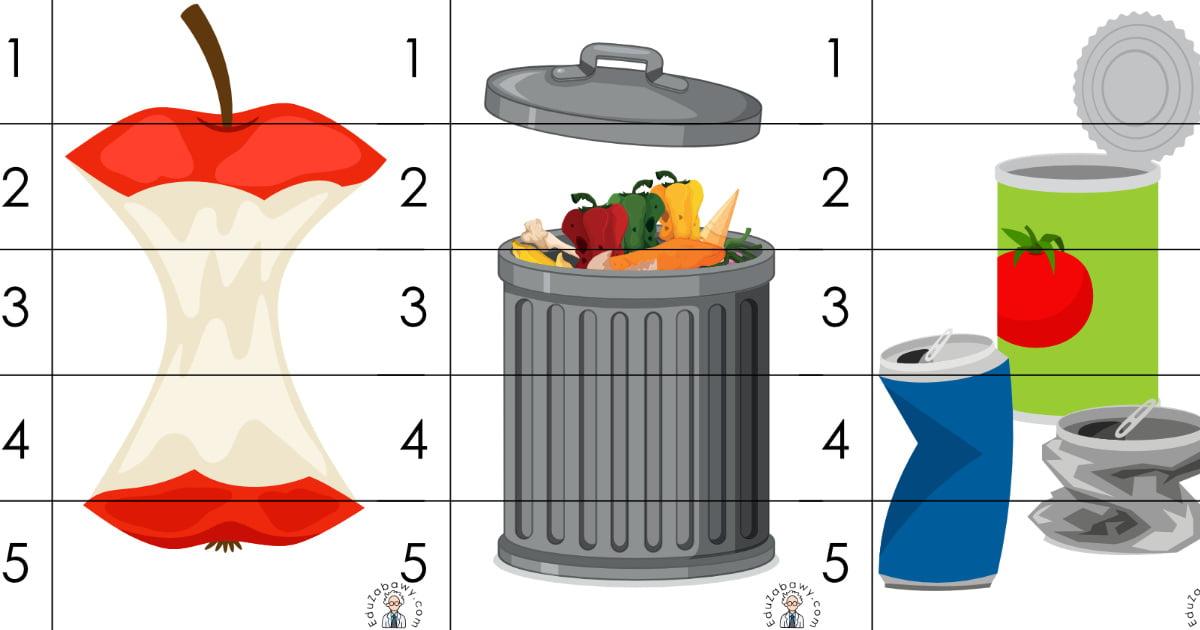 Dzień Ziemi: Puzzle 5 elementów (10 kart pracy)