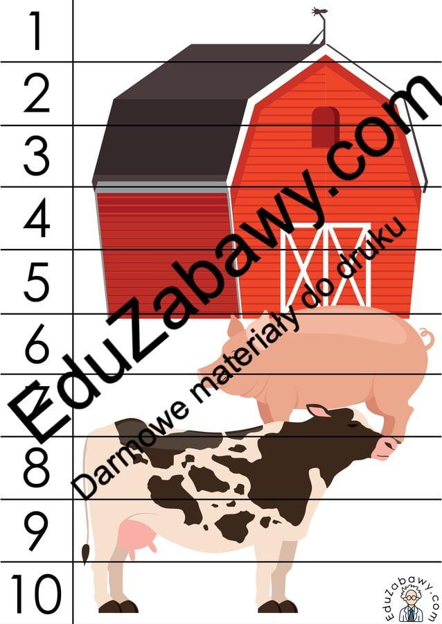 Na wsi: Puzzle 10 elementów (10 kart pracy) Karty pracy Karty pracy (Na wsi) Na wsi Puzzle