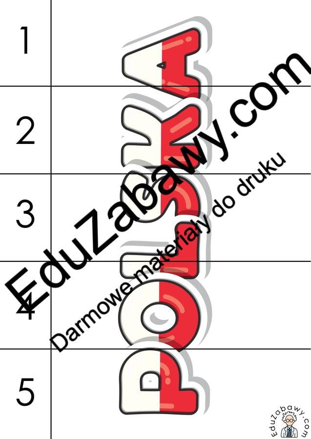Patriotyczne Puzzle 5 elementów (10 kart pracy) 3 maja Karty pracy Karty pracy (3 maja) Puzzle