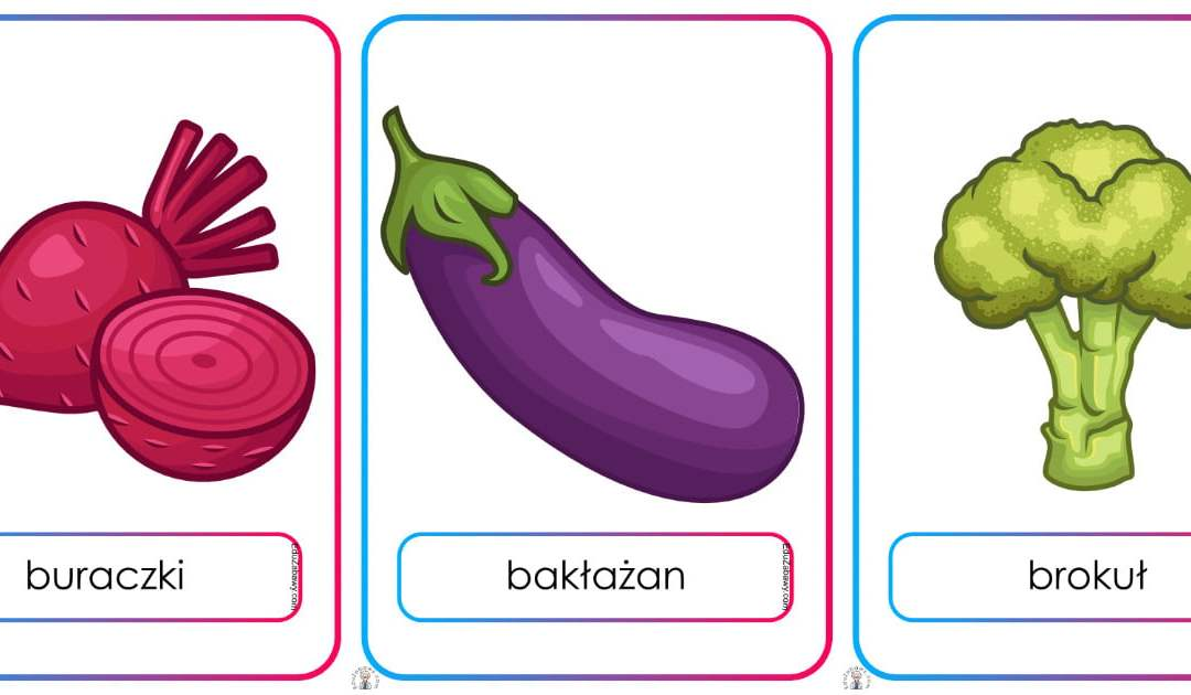 Plansze dydaktyczne: warzywa (21 plansz)