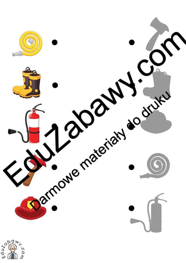Dopasuj cienie: Strażak (10 kart pracy) Dopasuj cienie Dzień Strażaka Karty pracy Karty pracy (Dzień Strażaka)