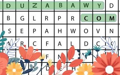 Wykreślanka online: Wiosenne kwiaty