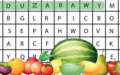 Wykreślanka online: Owoce
