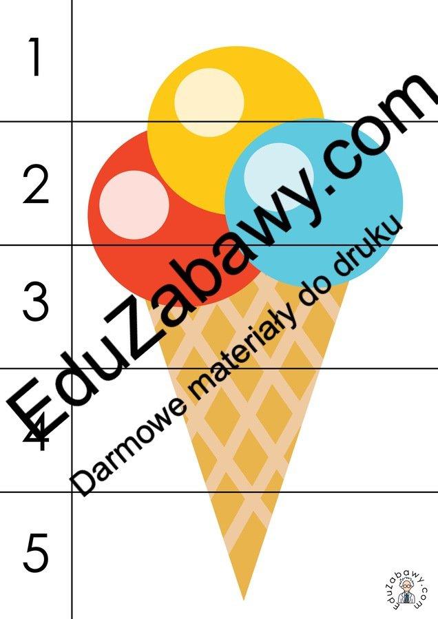 Lato: Puzzle 5 elementów (10 kart pracy) Karty pracy Karty pracy (Lato) Lato Puzzle