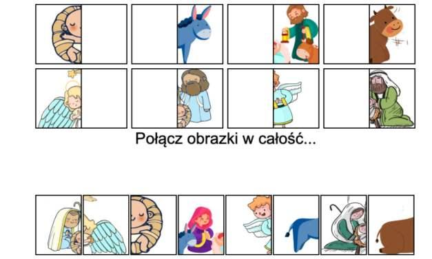 Gra online: Połącz obrazki: Jasełka