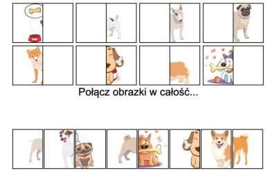 Gra online: Połącz obrazki: Pies