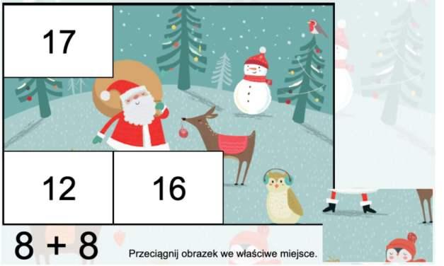 Gra online: Puzzle matematyczne: Mikołaj