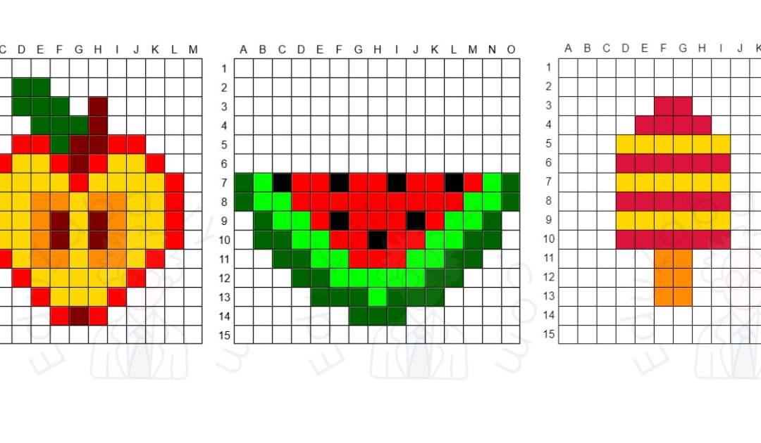 Kodowanie / Dyktando graficzne: Jedzenie