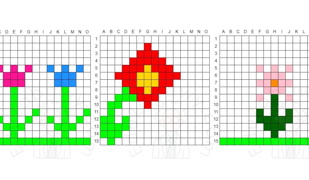Kodowanie / Dyktando graficzne: Kwiaty