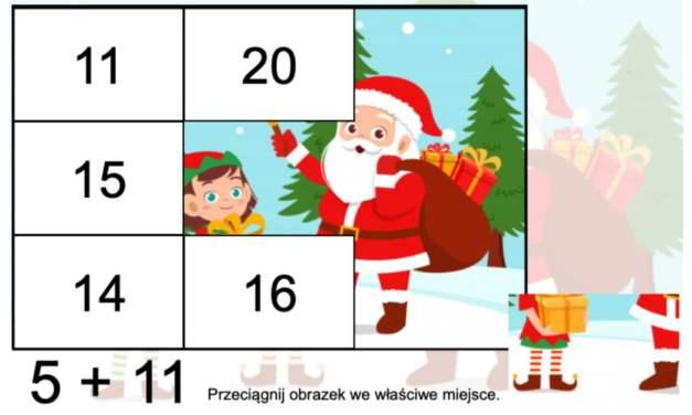 Gra online: Puzzle matematyczne: Boże Narodzenie