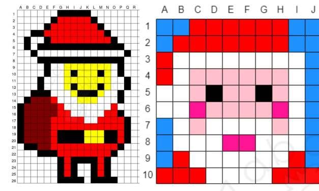 Kodowanie / Dyktando graficzne: Mikołaj