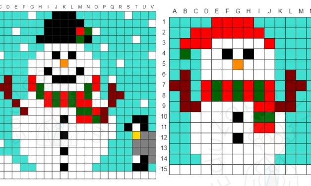 Kodowanie / Dyktando graficzne: Bałwanki
