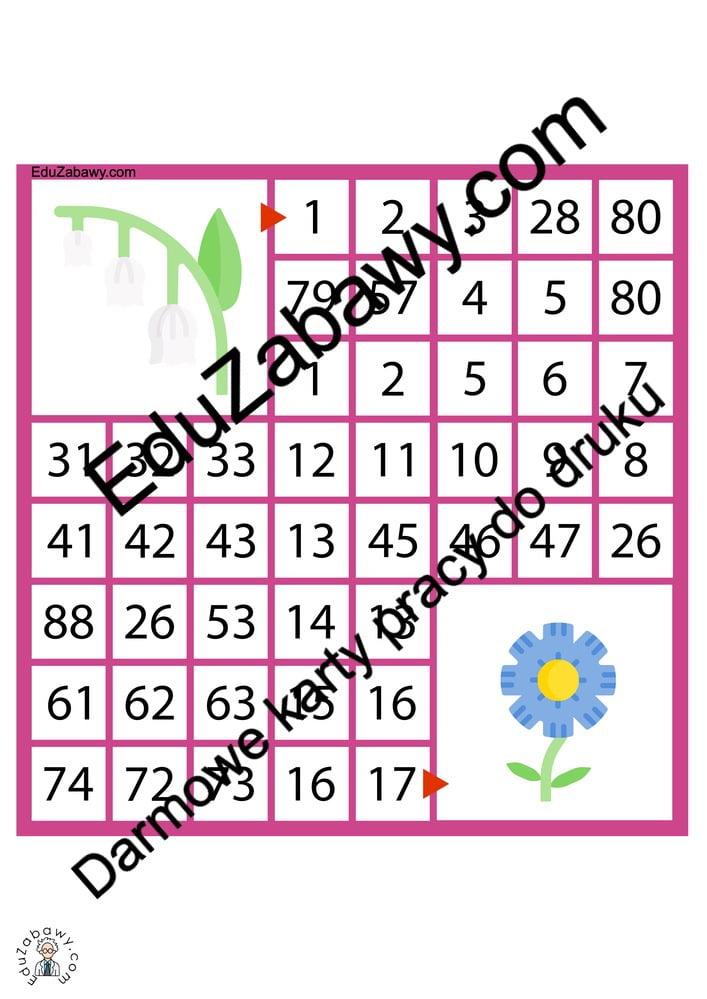 Labirynty matematyczne: Wiosna Karty pracy Karty pracy (Wiosna) Labirynt matematyczny Wiosna