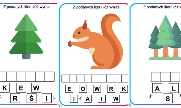Ułóż wyraz z liter: Dzień Drzewa