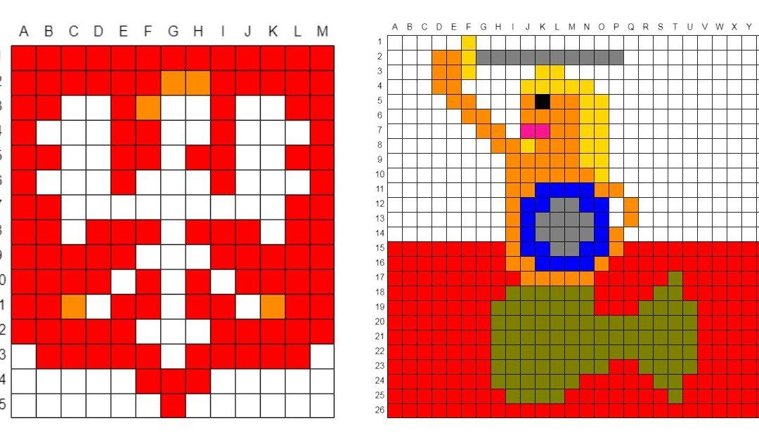 Kodowanie / Dyktando graficzne: Patriotyczne