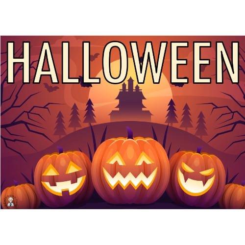 Kodowanie / Dyktando graficzne: Halloween Dyktando graficzne Karty pracy Karty pracy (Halloween / Święto dyni)