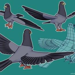 art_pigeon_model