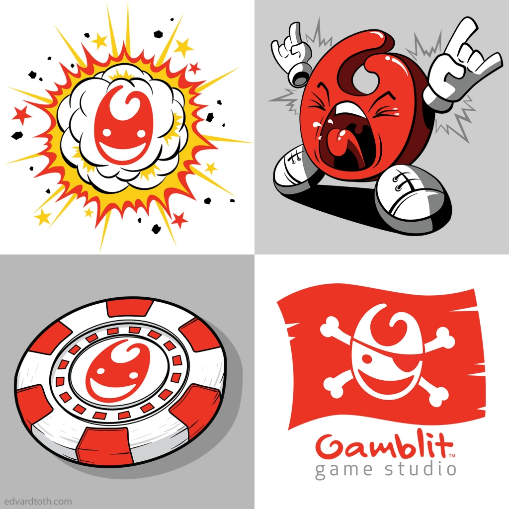 Gamblit vector illustrations