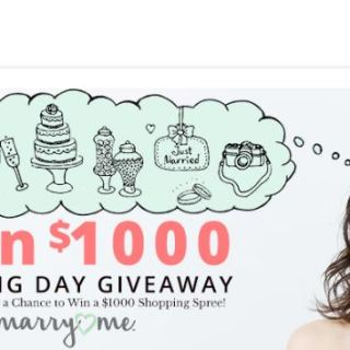 Your Big Day $1000 Monthly Giveaway