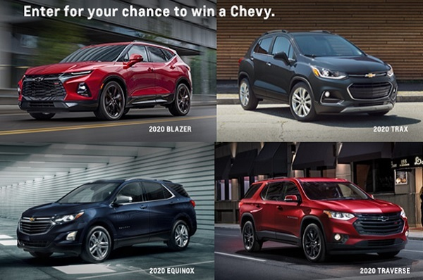Experience Chevrolet Today Win A Chevy Sweepstakes