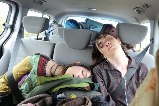 Teens napping