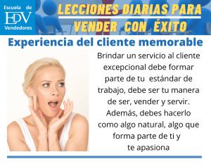 Diez (10) recomendaciones para brindar una experiencia al Cliente memorable