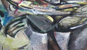 Edward E Boccia drawing, contemporary-art, abstraction, pastels