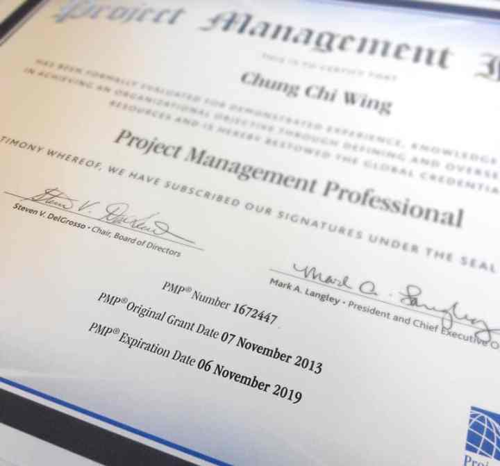Renewed PMP Certificate