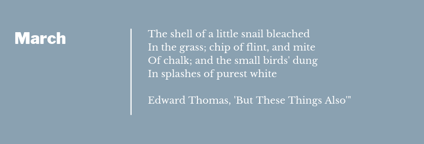 Edward Thomas - But These Things Also Poem Extract March
