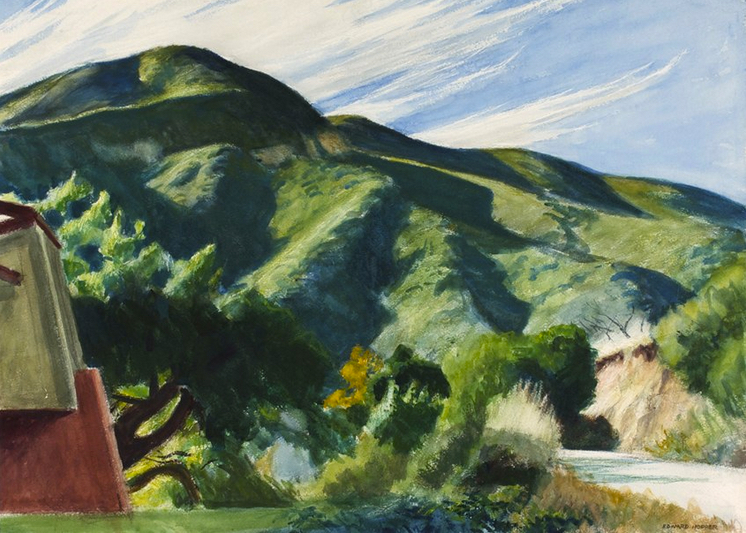 Edward Hopper California Hills Hallmark Art Collection