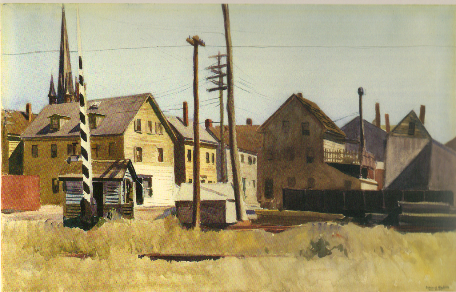 Railroad Gates (1928) Edward Hopper