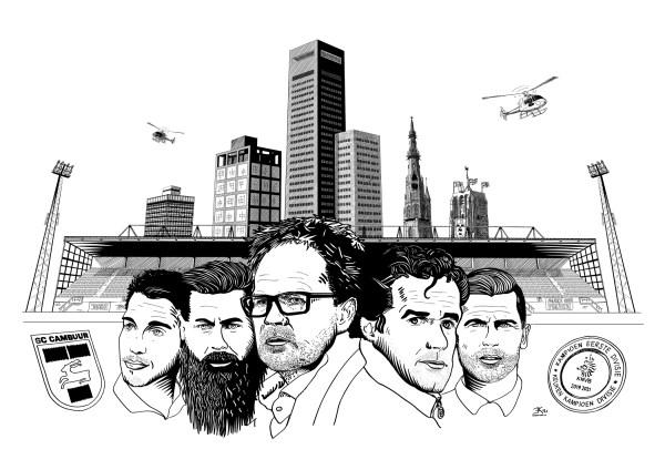 Cambuur promotie poster 2021 zwart-wit