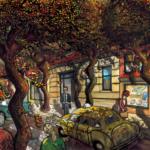 Straat met de dansende bomen, Studio Edward Kobus 2017