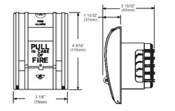 Edwards Signaling  270 Series Fire Alarm Pull