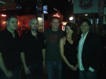 NHLer Bates Battagila and band