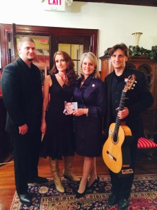 The band with Congresswoman Renee Ellmers